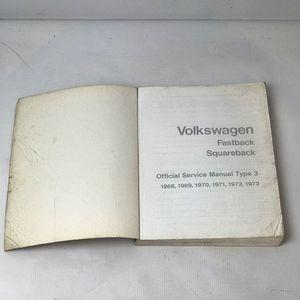 VOLKSWAGEN Other - Volkswagen Official Service 1968-1973 Type 3 Book